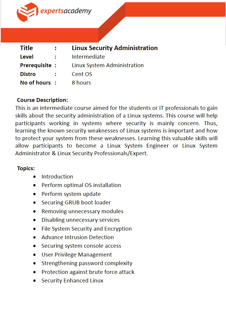 Linux Security Administration